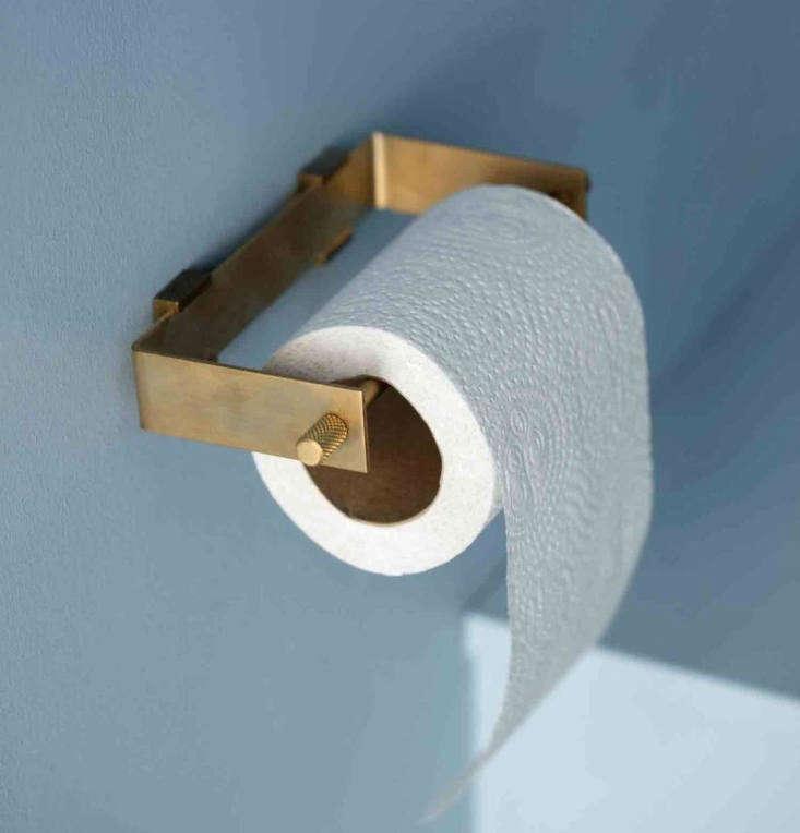 KBH brass toilet paper dispenser.