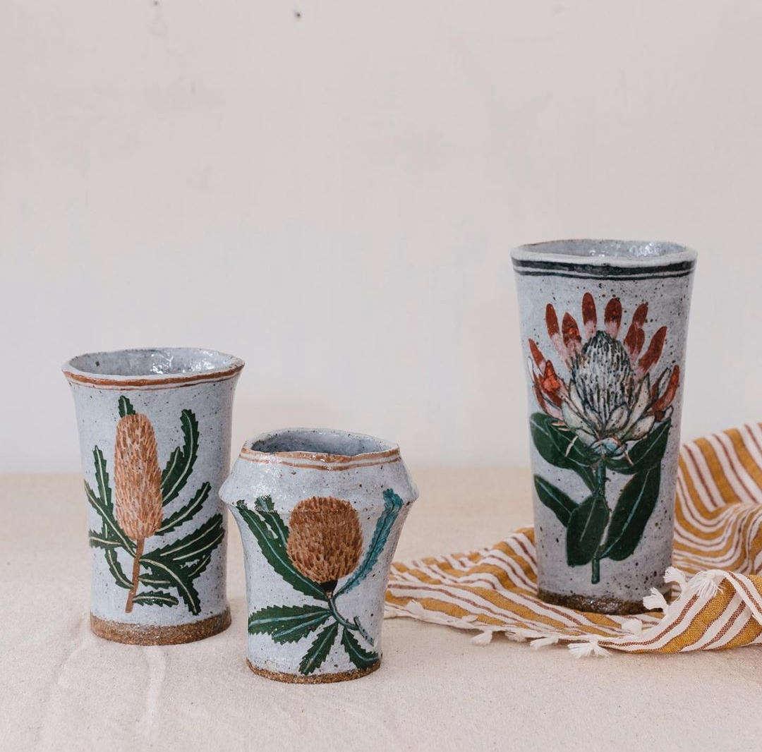 rebekah miles hand painted ceramics vases1