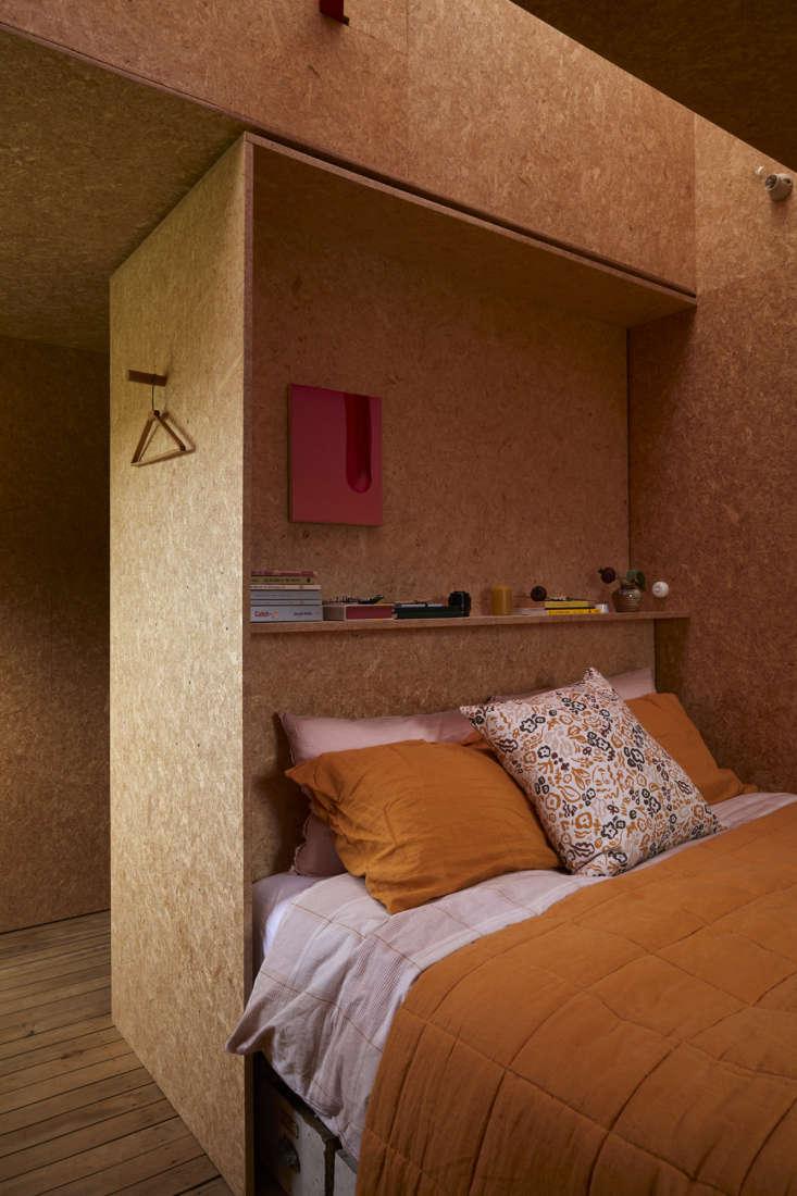 Shearing shed bedroom, architect Ben Daly, Palace Electric, NZ. Sam Hartnett photo.