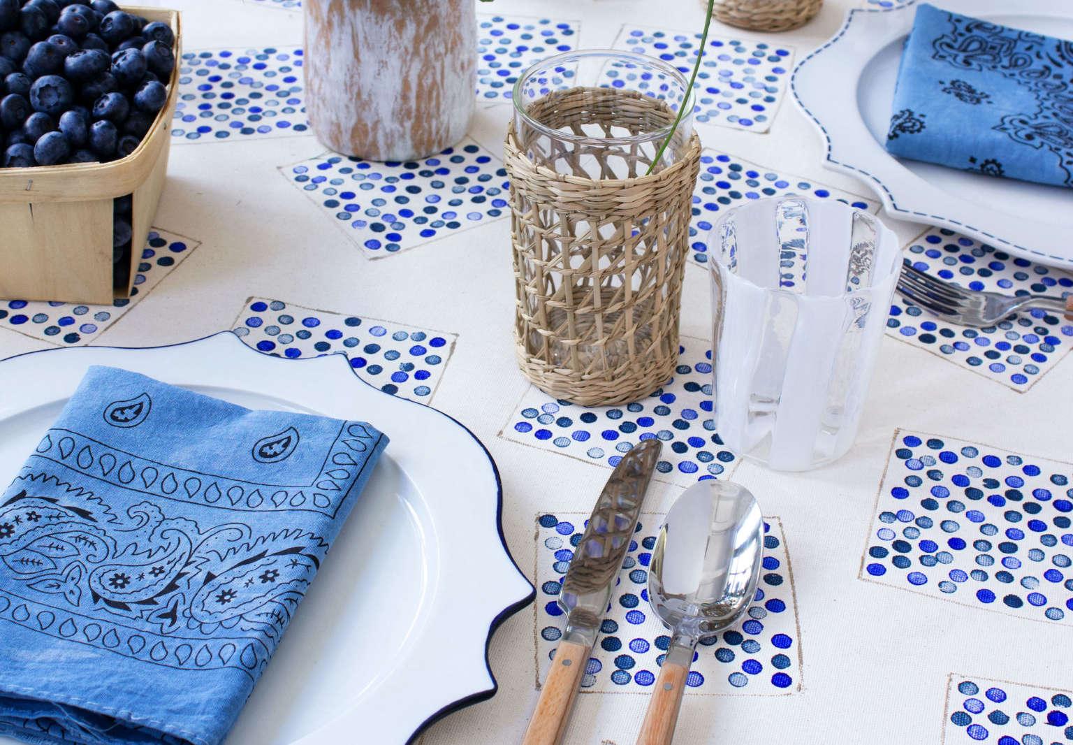 david stark design fourth july blueberry tablecloth decoration diy7
