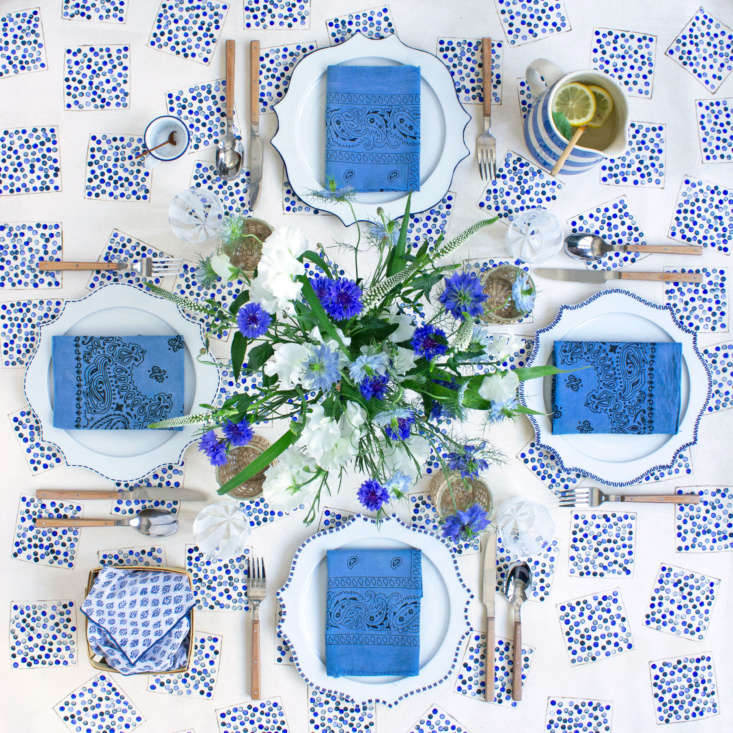 July 4th Blueberry Tablecloth DIY by David Stark