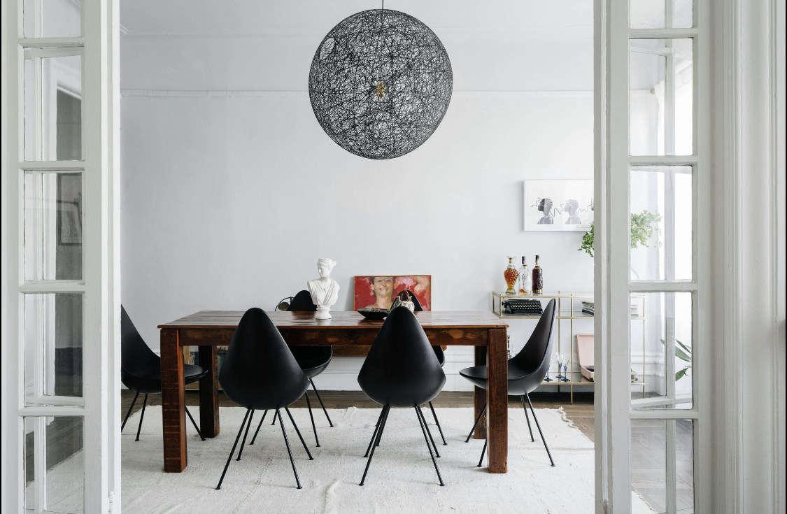 delia kenza interiors brooklyn apartment dining room1