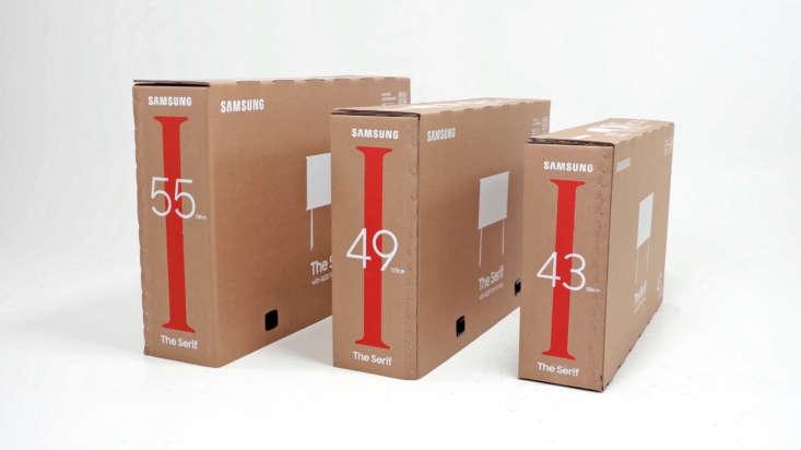 Sansung Serif TV cardboard eco packaging.