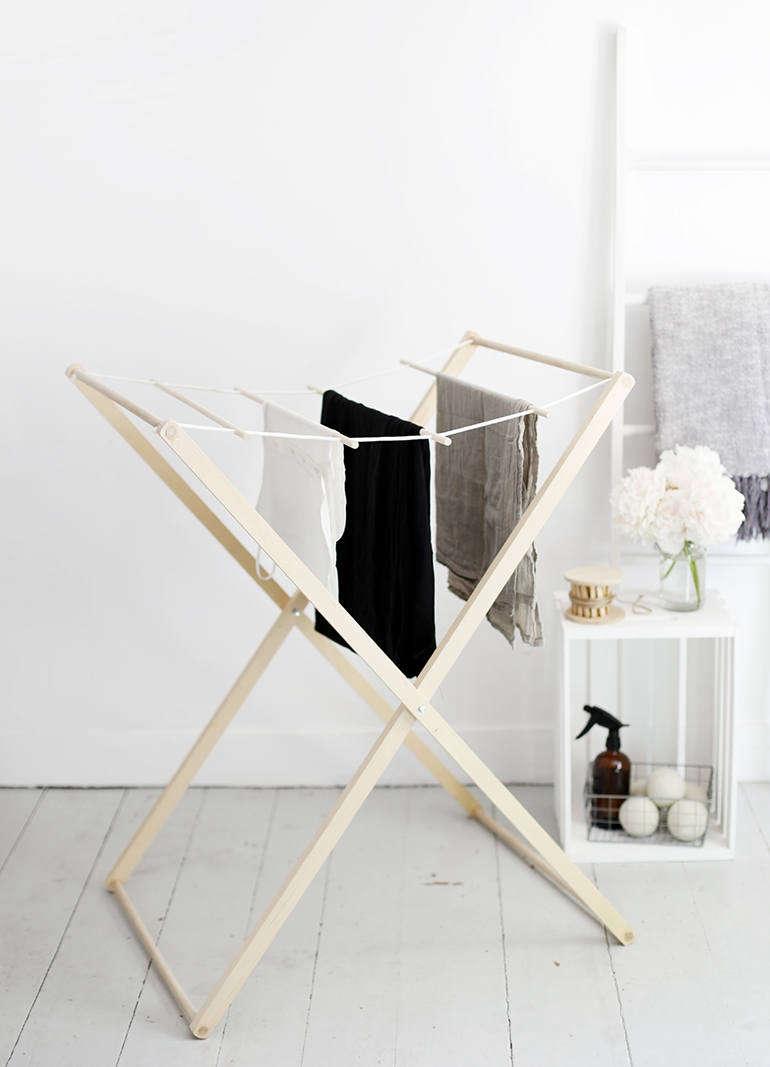 diy drying rack via the merry thought