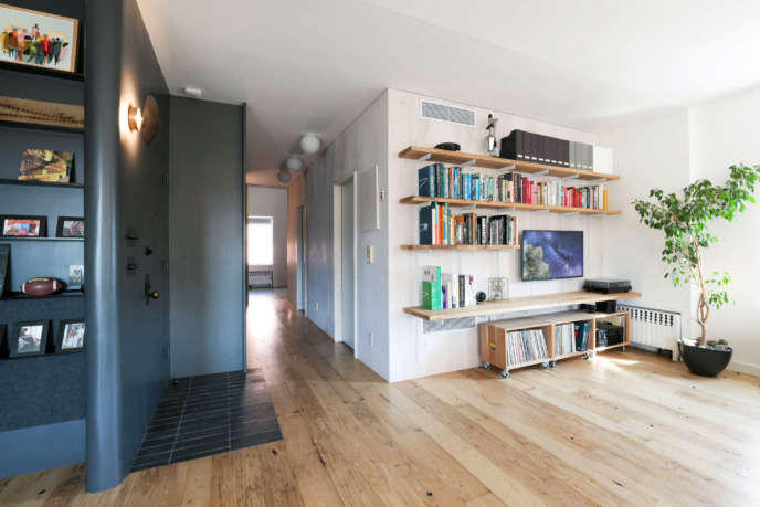 Brooklyn apartment combination and renovation by Dameron Architecture