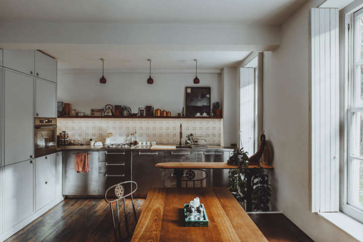 the kitchen fills one end of the main room. &#8\2\20;the stainless steel ki 9