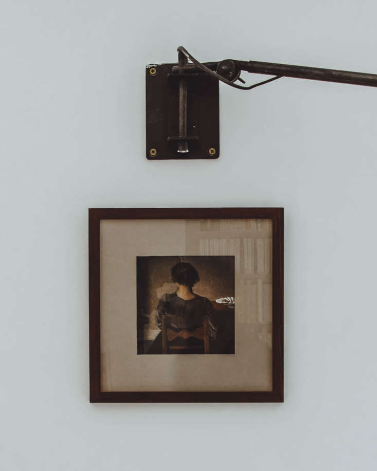 a hammershoi print hangs on one wall. (n.b.: for a room inspired by hammershoi, 14