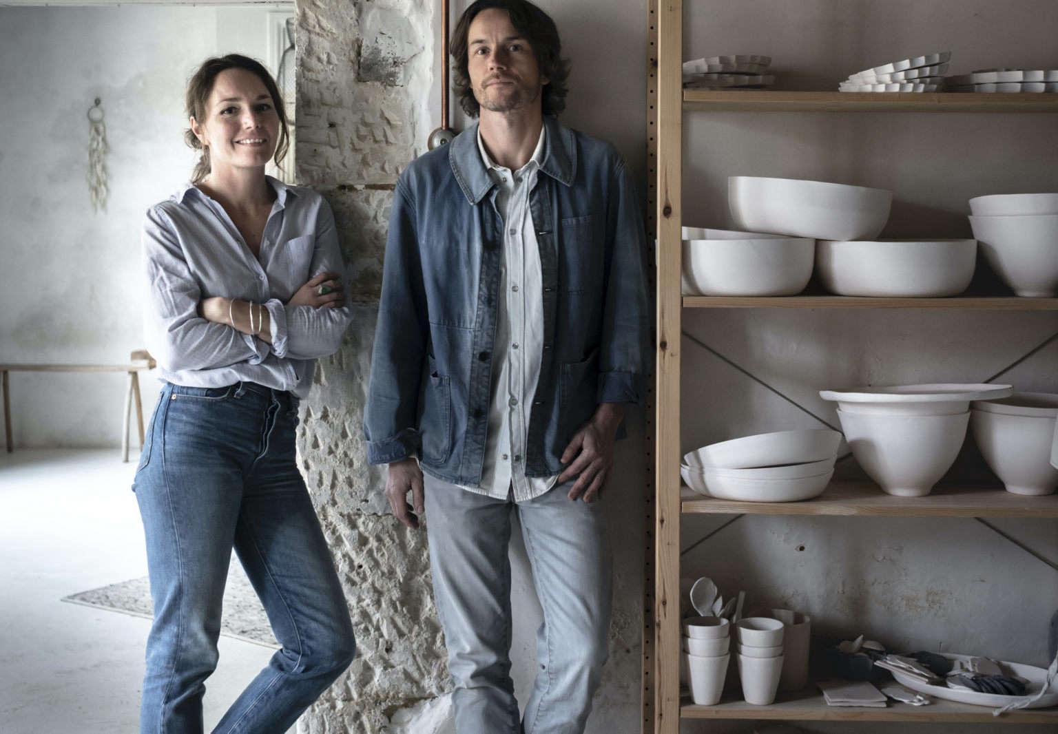 justine and jean hay de slate in the epure studio haute saintonge france hero 1