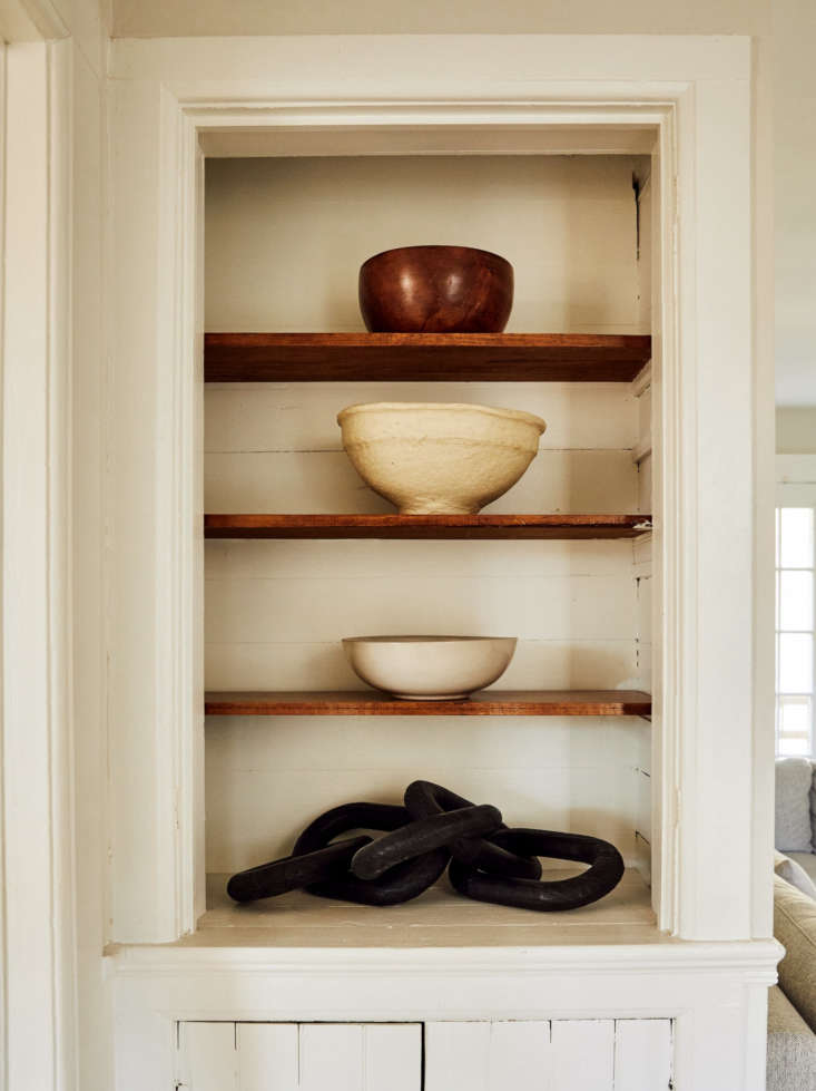 shelves in lisa przystup catskills farmhouse, photo by christian harder via rip 12