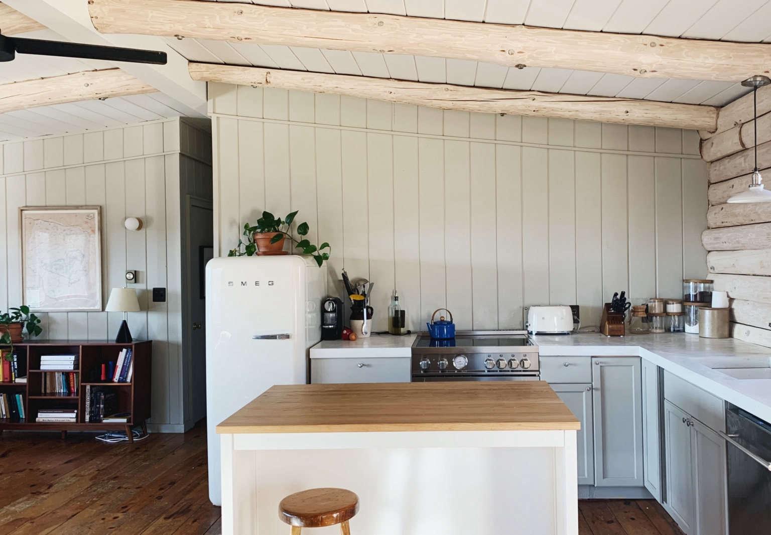 yi mei truxes catskills cabin kitchen