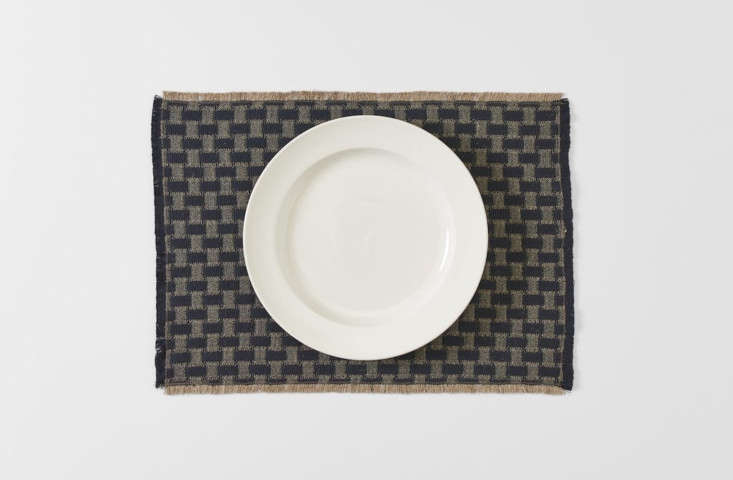 Londra Black Fringed Placemat by Arcolaio at March SF