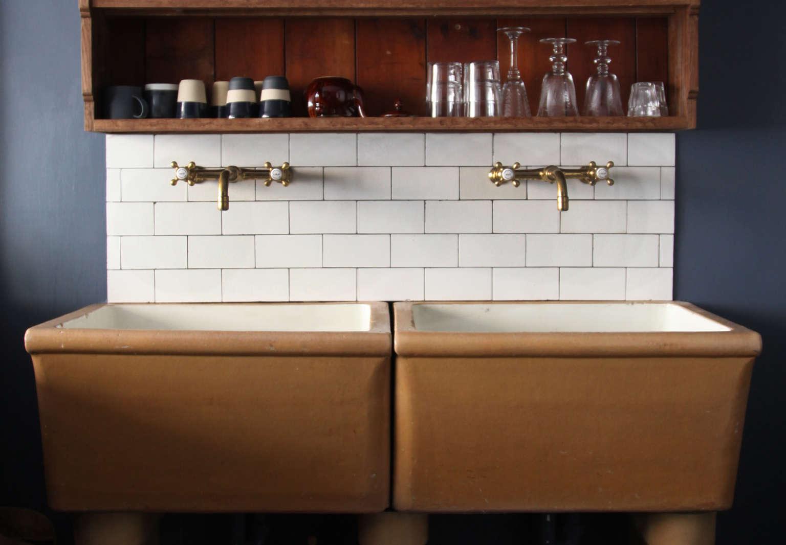 berdoulat mews house vintage ceramic kitchen sink bath england berdoulat studios photo 4