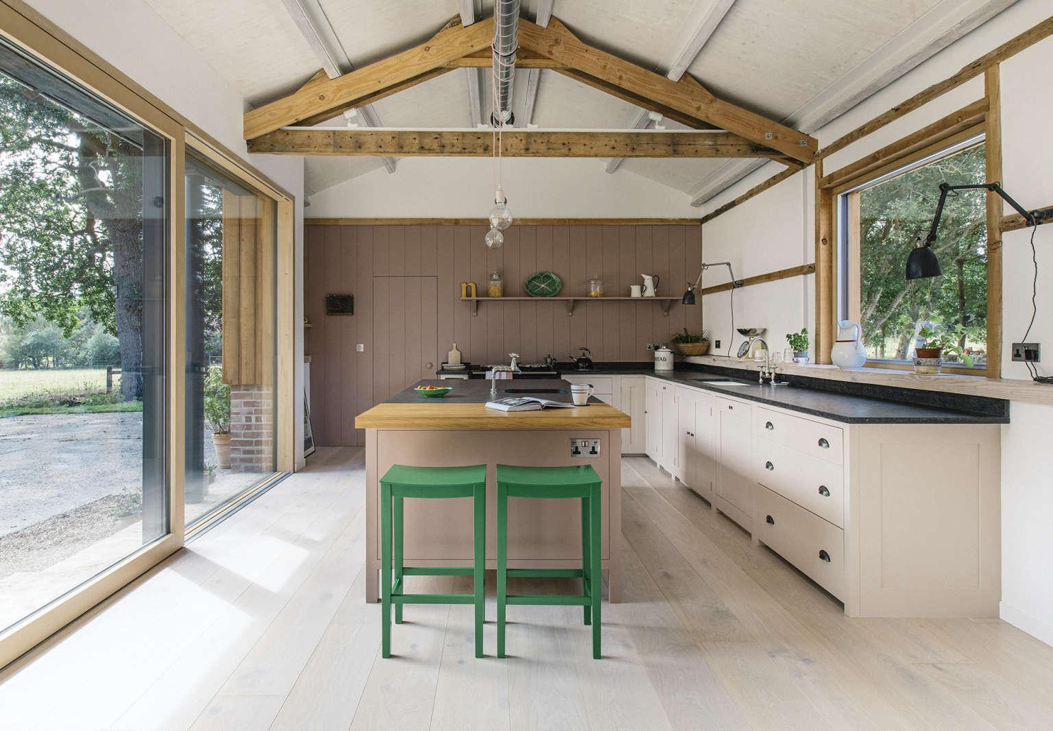 plain english converted barn kitchen suffolk england 1