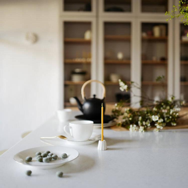 ovo things porcelain canele candle holder nora khereddine in situ