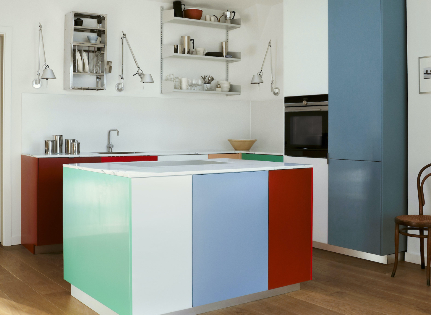 reform kitchen berlin colorful cabinets match3 1466x1955 1 1458x1066