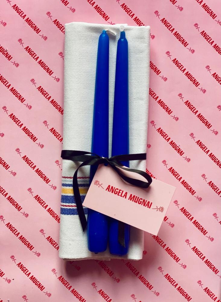 Angela Mugnai Blue Candles Gift Set
