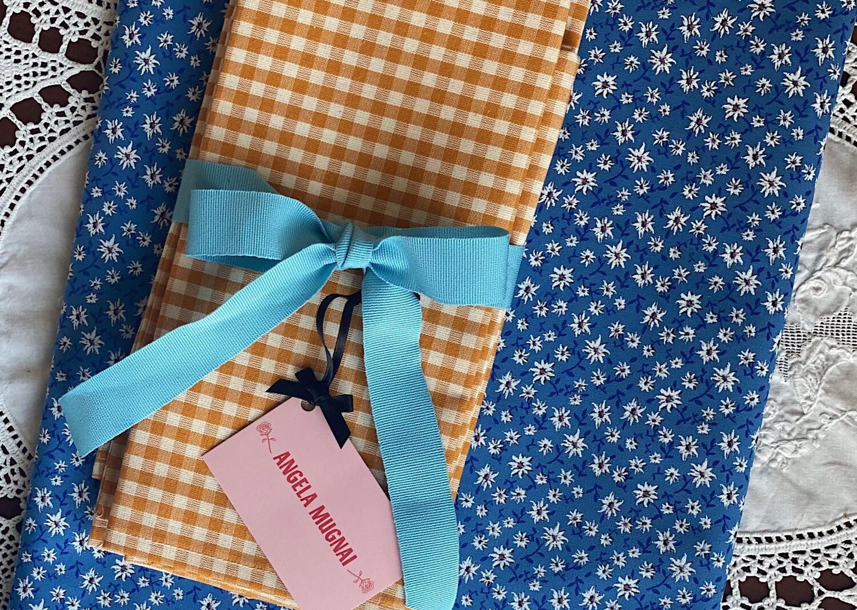 angela mugnai edelweiss turquoise tablecloth set