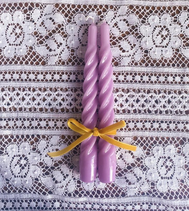 Angela Mugnai Twisted Candles Set of Two