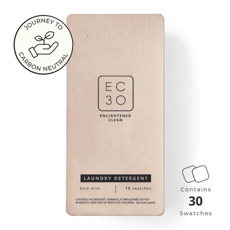 EC30 laundry detergent swatches