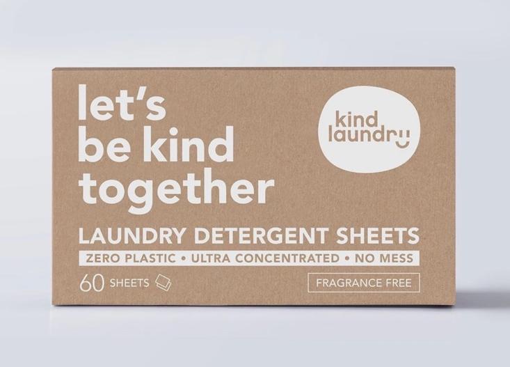 Let's Be Kind Together laundry detergent sheets