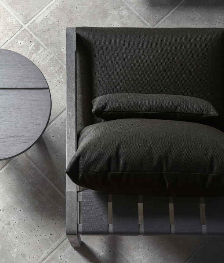 the furnishings—from chairs to lounges to sofas—are fitted with plush, ultr 13