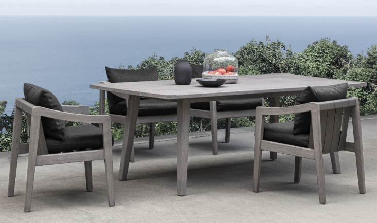 like the rest of the collection, the del mar rectangle dining table is equal pa 14