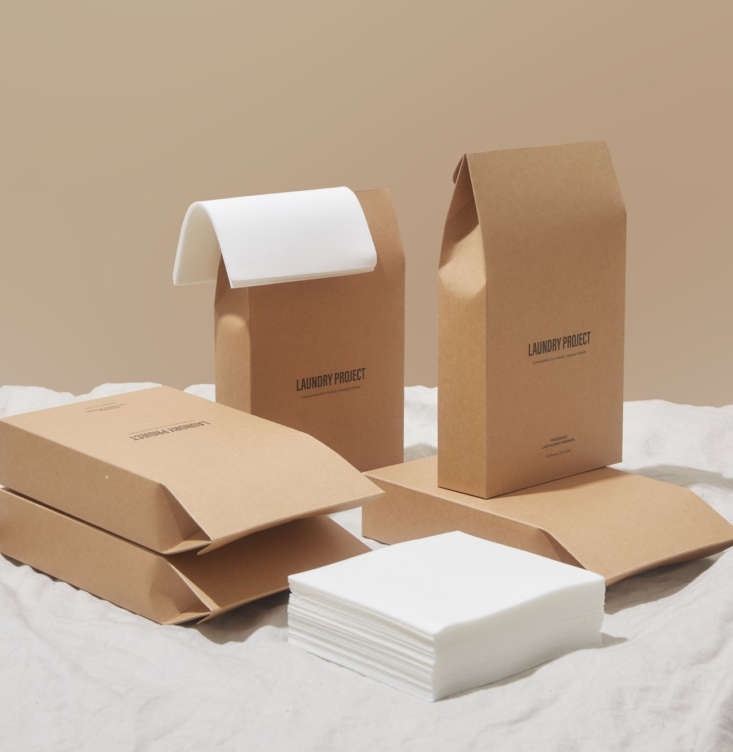 Australian company Laundry Project offers packs of 30 Eco-Friendly Laundry Detergent Sheets for AU$18.50.