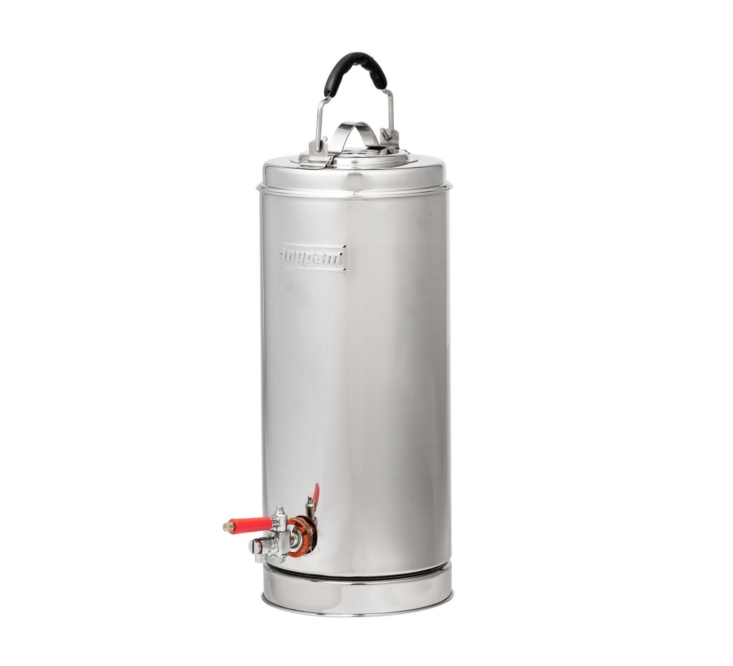 The stainless steel Puebco Dispenser is $190 from Burke Decor.
