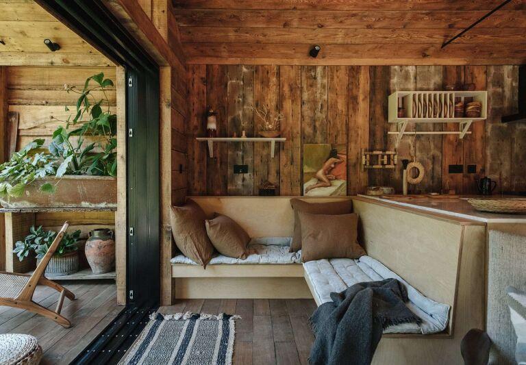 settle norfolk lakeside cabin living room
