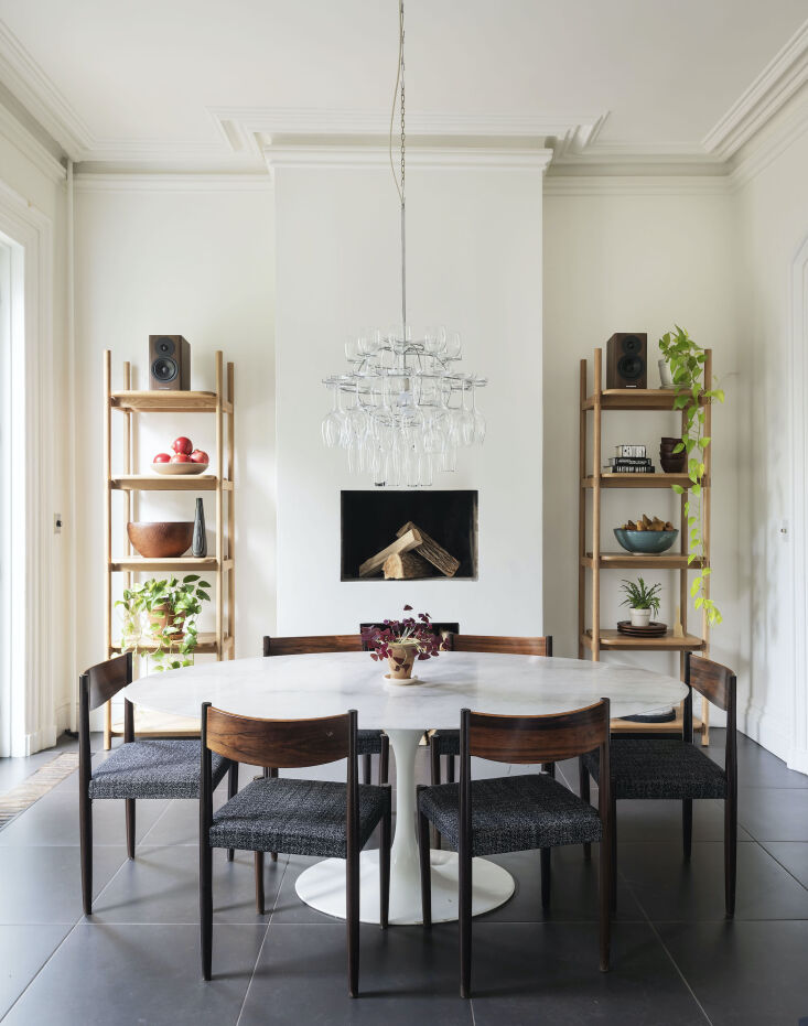 Current Obsessions Upcycled Finds Architect Elizabeth Roberts' own Brooklyn dining room.