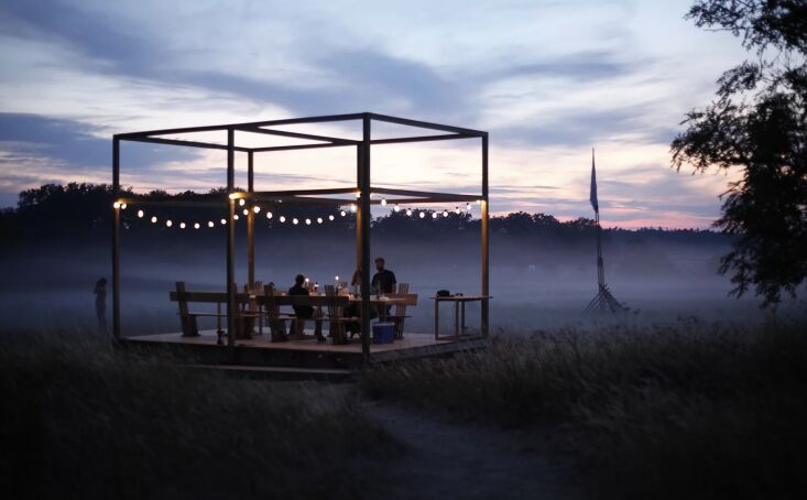 Current Obsessions Upcycled Finds Designers on Holiday, Gotland, Sweden, dining pavilion.