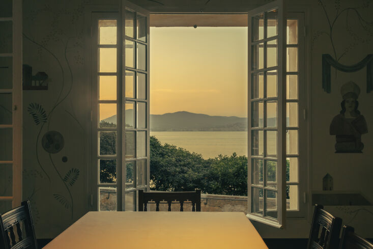 OldWorld French Summer Htel La Ponche in SaintTropez The room overlooks the sea and is available to book for private gatherings.
