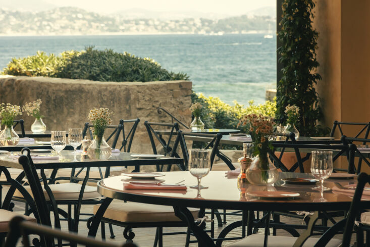 OldWorld French Summer Htel La Ponche in SaintTropez At the La Ponche restaurant, guests can dine al fresco looking out over the sea.