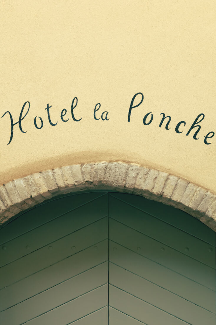OldWorld French Summer Htel La Ponche in SaintTropez A hand painted sign greets visitors.