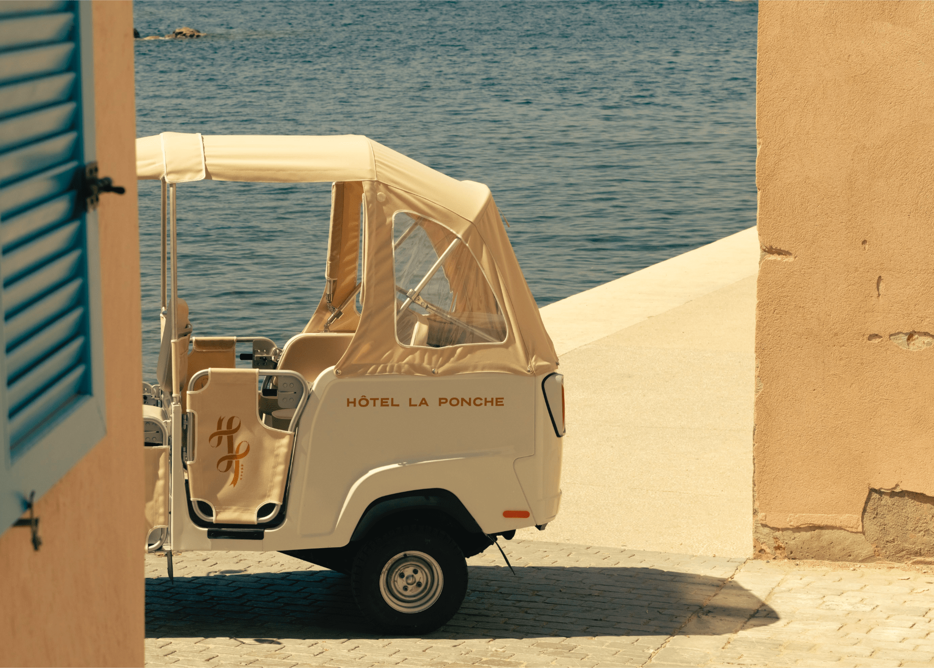 OldWorld French Summer Htel La Ponche in SaintTropez The charming transportation.