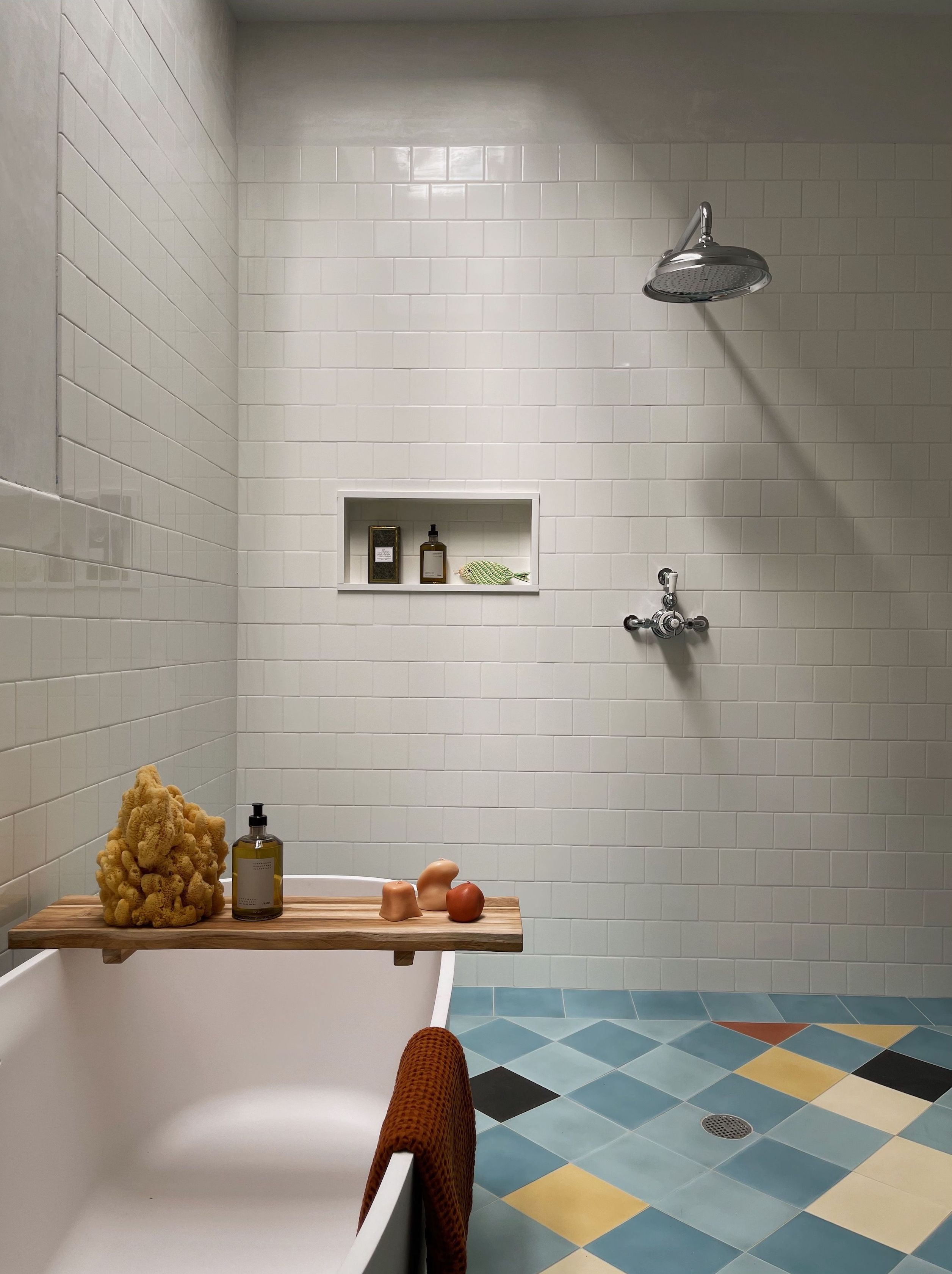 Steal This Look: An Artistic Bath Remodel Inspired by Picasso's Blue Period - Remodelista