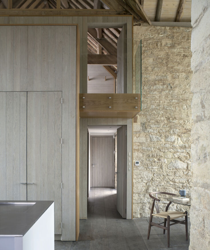 Kitchen of the Week A Modern Barn Conversion in the English Countryside The flooring is 'fumed' (smoked) solid oak.