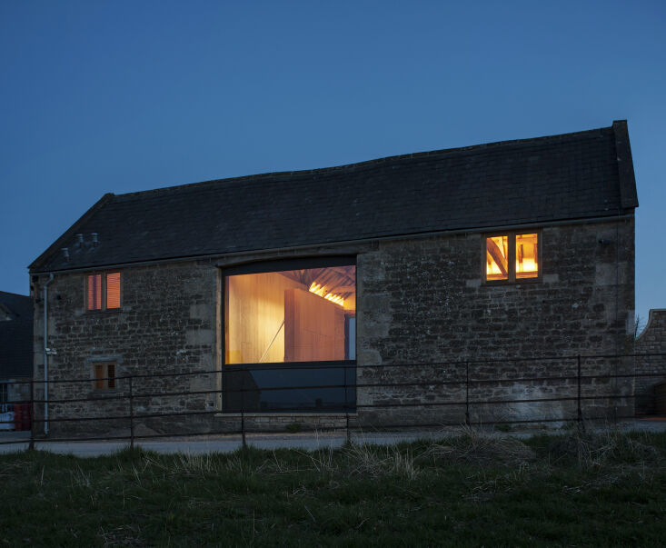 Kitchen of the Week A Modern Barn Conversion in the English Countryside The view from the exterior.
