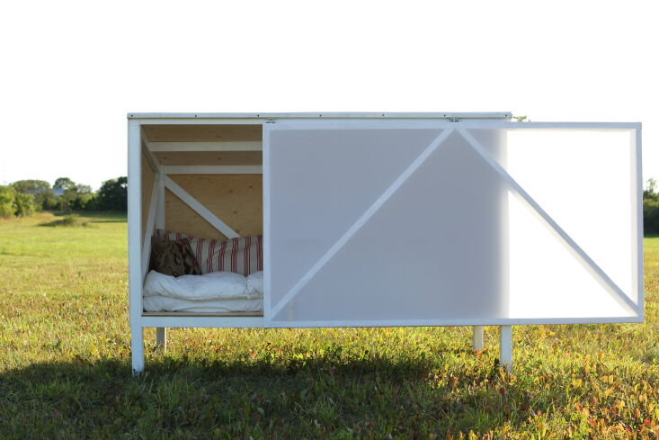 Current Obsessions Upcycled Finds Micro cabin by DOH Studio and Mark McGuinness in Gotland, Sweden.