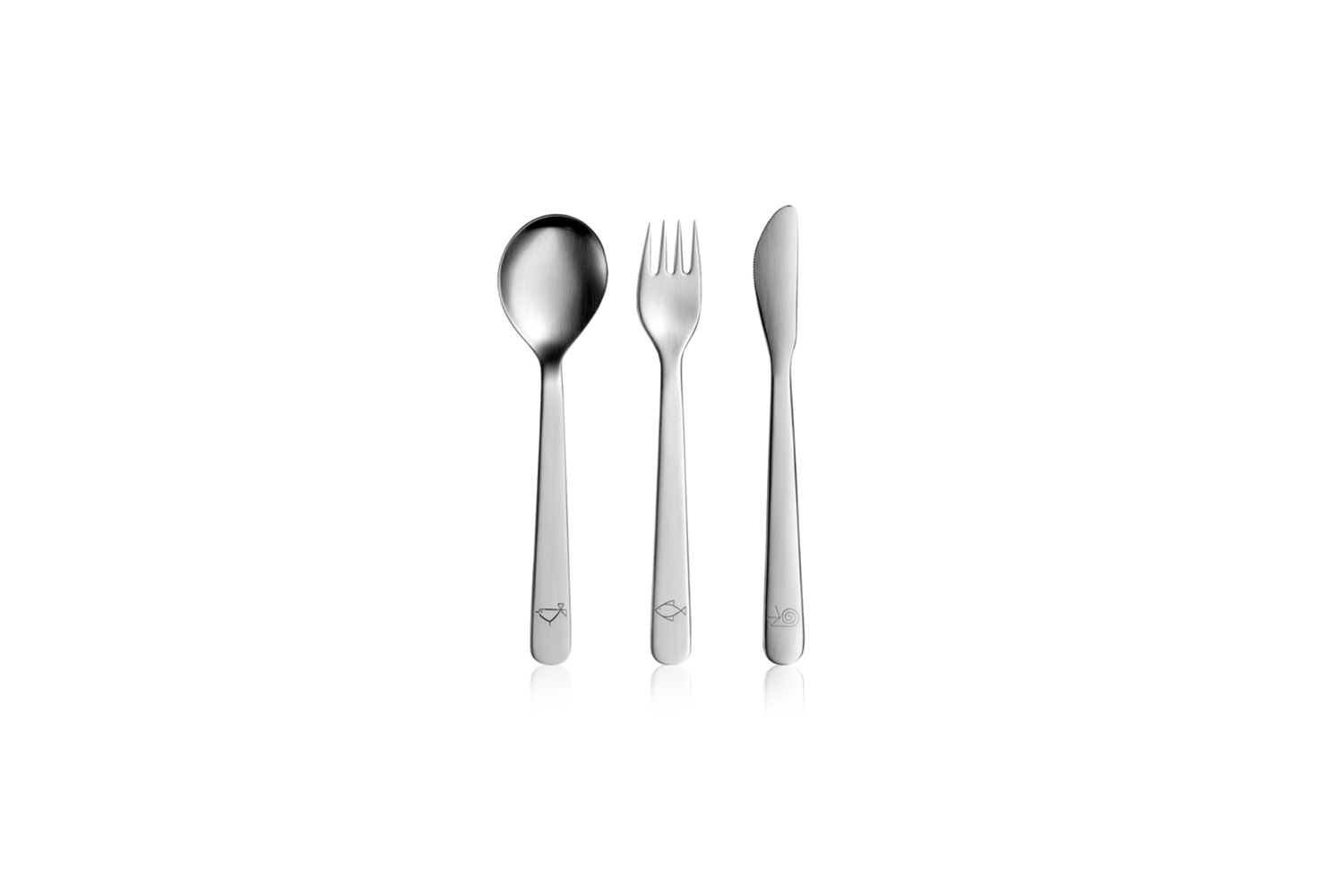 10 Easy Pieces Childrens Flatware The Mono Petit Children&#8\2\17;s Flatware includes three simple pieces for €70 at Culinaris.