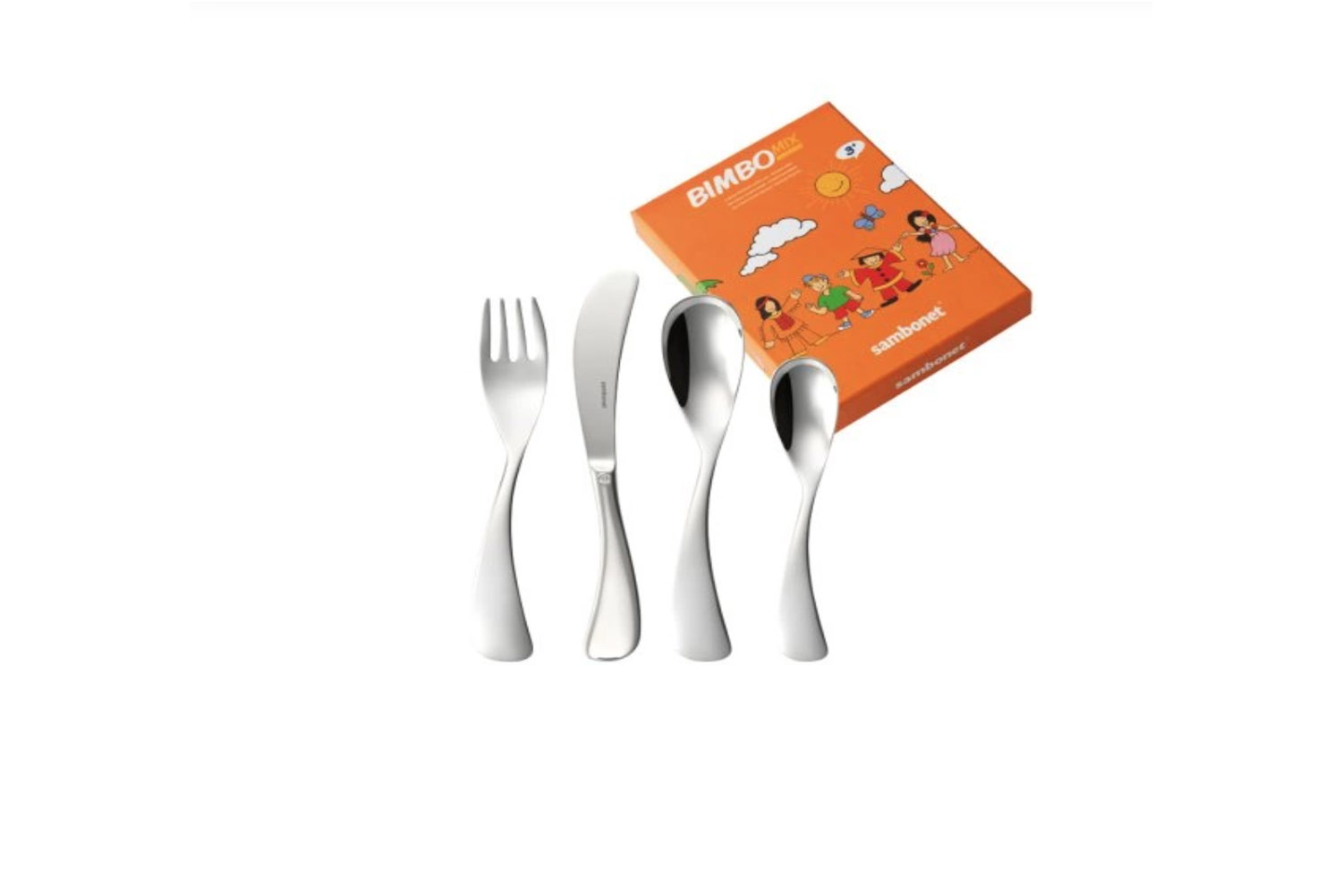 10 Easy Pieces Childrens Flatware The Sambonet Bimbo Mix Stainless Steel Baby Flatware is €\29.90 at Rosenthal in Germany.