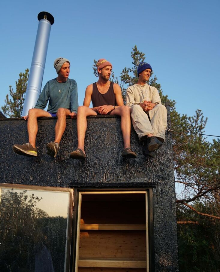 Current Obsessions Upcycled Finds Tarred sauna, Gotland, Sweden, Designers on Holiday.