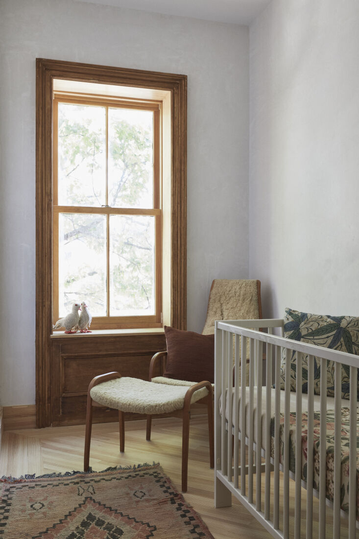 The smallest space is styled as a baby&#8\2\17;s room. Throughout the house, notes Bretaigne, &#8\2\20;there is very little reliance on paint but instead on hand-troweled plaster surfaces that we think have a wonderful luminous effect. We were trying to keep things unfussy and generous; we wanted to let this house breathe.&#8\2\2\1;