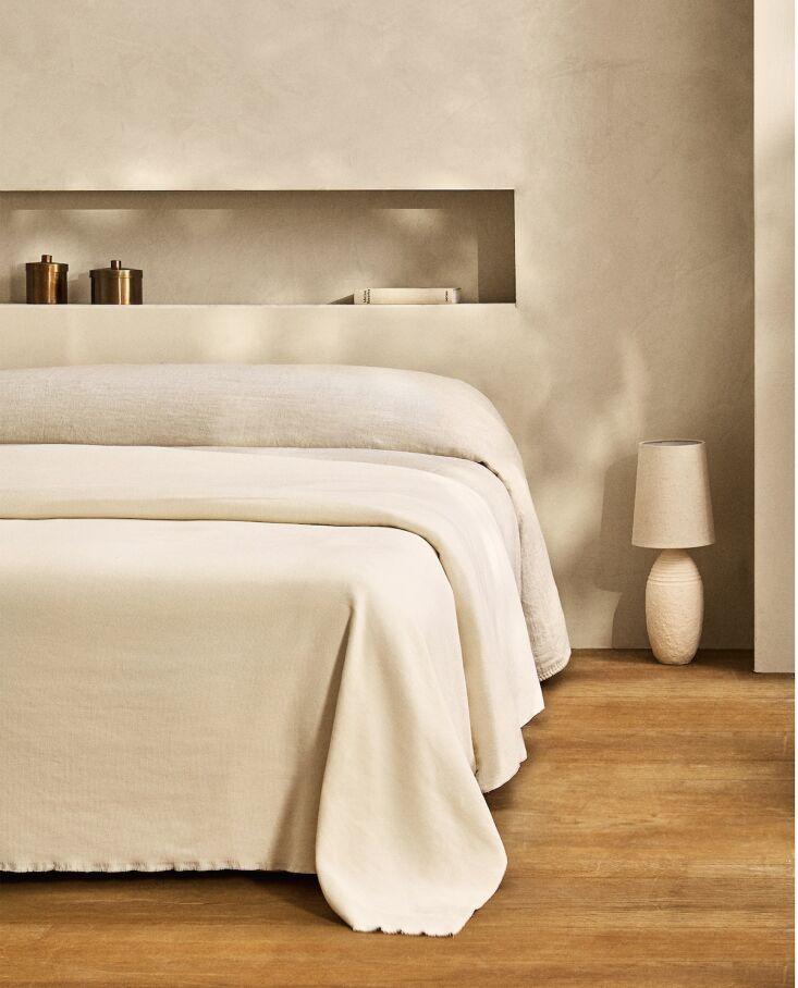 zara cotton needle cord bedspread