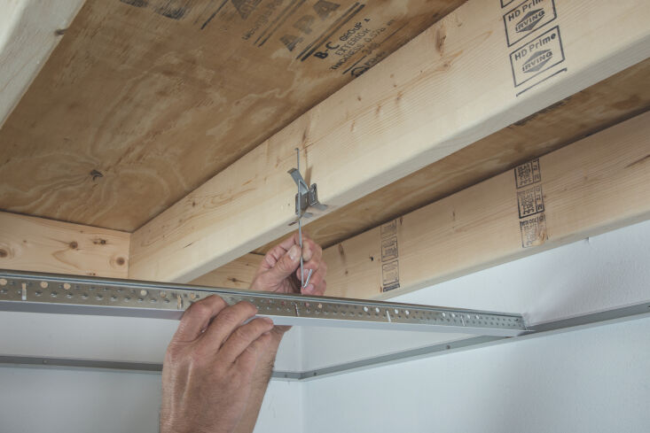 above: a glimpse of the easy to use quickhang installation kit, which finishes  15