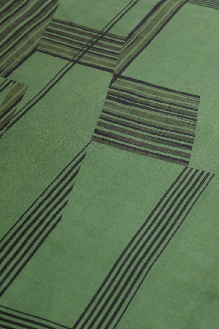 A detail of the Peak Tablecloth.