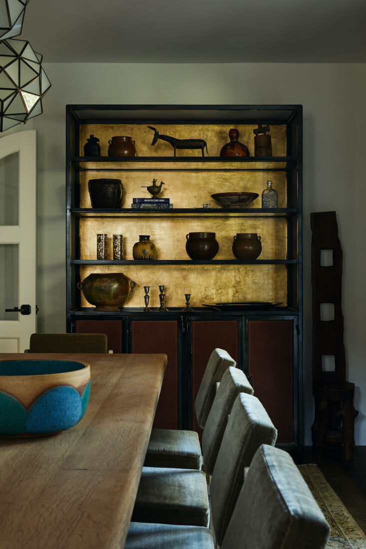 the gilded cabinet with leather fronts is from casamidy, in san miguel de allen 17