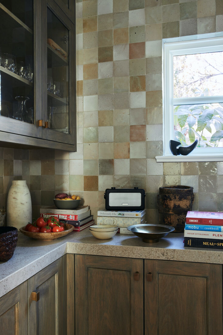 in the pantry, clé tiles from their eastern earthenware collection line the wa 11