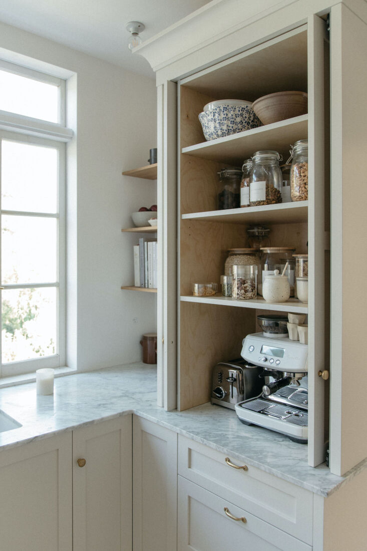 """""""i really love our pocket doors on the pantry. it's a hidden coff 13"""
