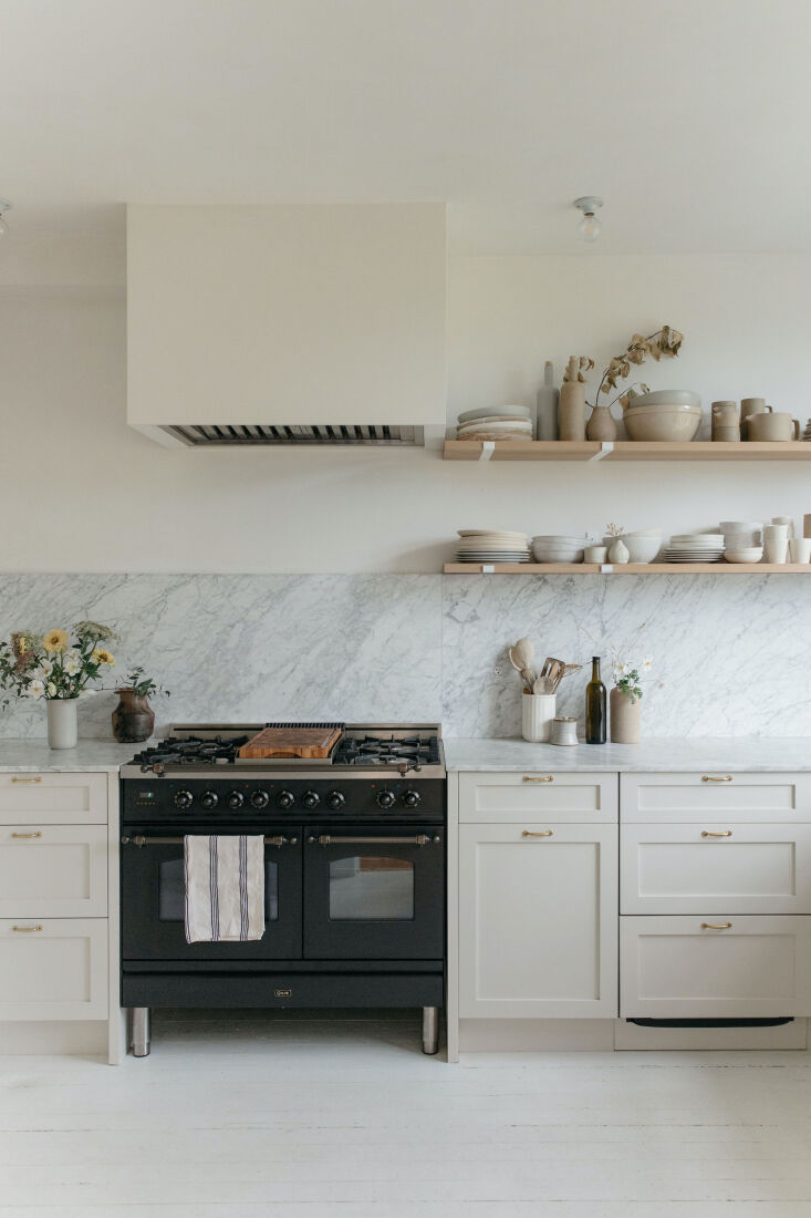custom floating shelves by lock & mortice are now where the original window 10